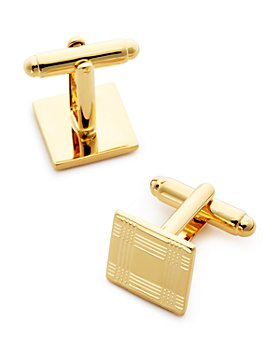 The Men's Store at Bloomingdale's - Brass Check Square Cufflinks - 100% Exclusive