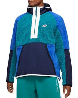 Nike - Color-Block Half-Zip Hoodie