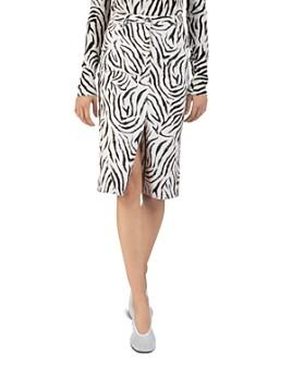 ATM Anthony Thomas Melillo - Zebra-Printed Denim Skirt
