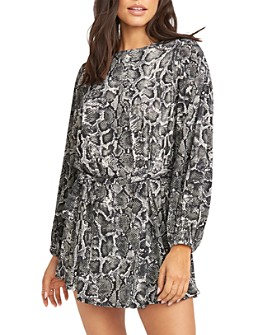 Show Me Your MuMu - Geller Snakeskin-Printed Mini Dress