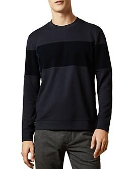 Ted Baker - Wander Velvet-Panel Sweatshirt