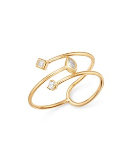 Zoë Chicco - 14K Yellow Gold Diamond Bypass Ring