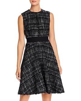 PAULE KA - Banded Tweed A-Line Dress