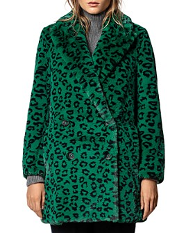 Zadig & Voltaire - Motty Leopard-Printed Faux-Fur Coat