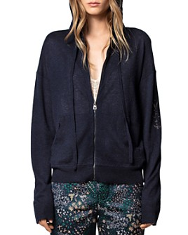 Zadig & Voltaire - Sixtine Cashmere Zipped Hoodie