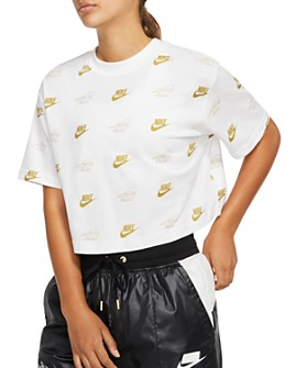 Nike - Metallic Logo Cropped Tee