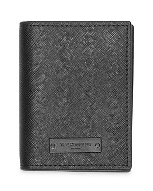 The Kooples Crossgrain Leather Bi-Fold Card Case