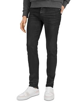 The Kooples - Waxed Straight Slim Fit Jeans in Black