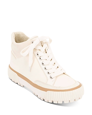Dolce Vita Women's Rose High-Top Platform Sneakers In White Leather