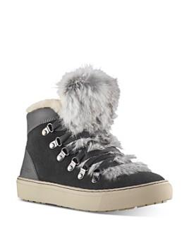 Cougar - Women's Dani Waterproof Fur Trim High-Top Sneakers