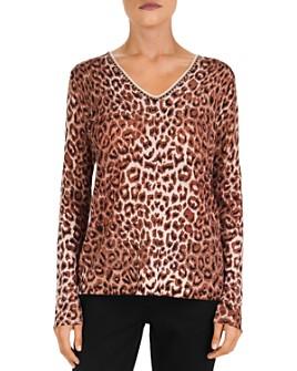 Gerard Darel - Shiraz Leopard-Print Merino-Wool Sweater