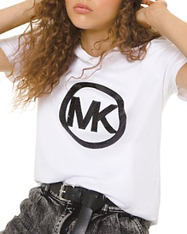 MICHAEL Michael Kors - Sequined Logo Cotton-Jersey Tee