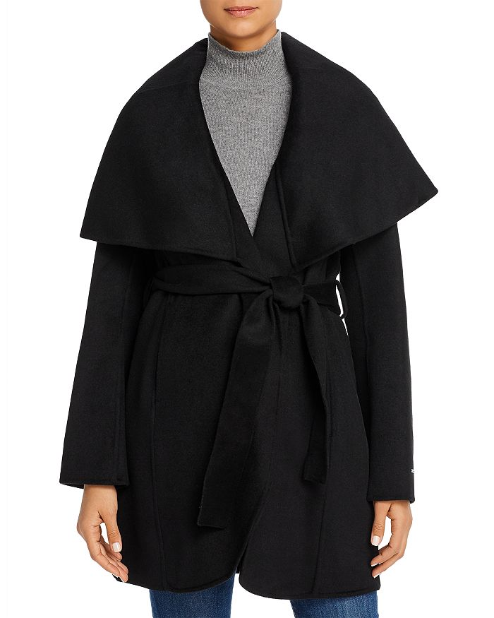 T Tahari - Marla Belted Wrap Coat