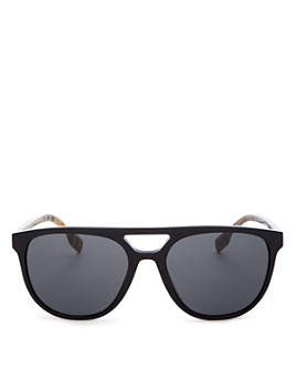 Burberry - Unisex Flat Top Brow Bar Square Sunglasses, 58mm