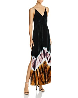 Young Fabulous & Broke - Dezie Velvet Tie-Dye Maxi Dress