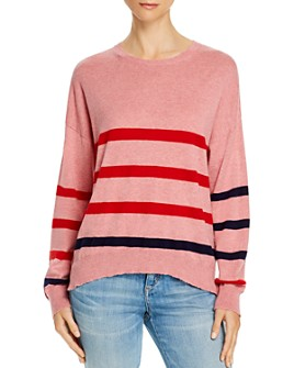Sundry - Heart & Star Striped Sweater - 100% Exclusive