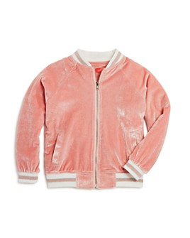AQUA - Girls' Velvet Bomber Jacket, Big Kid - 100% Exclusive