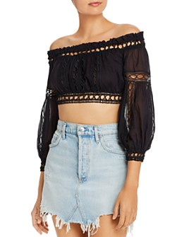 Charo Ruiz Ibiza - Alova Off-the-Shoulder Cropped Top