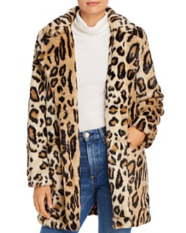 Apparis - Margot Faux-Fur Leopard-Print Coat