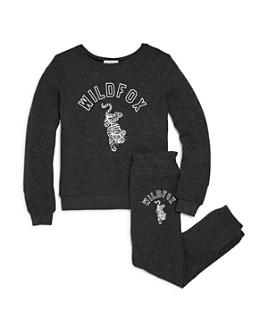 WILDFOX - Girls' Tiger Graphic Sweatshirt & Jogger Pants - Big Kid