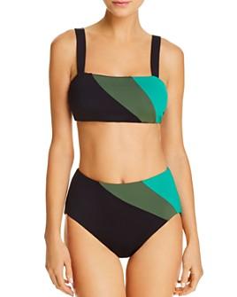 kate spade new york - kate spade new york Reversible Bikini Top & Reversible High-Waist Bikini Bottom