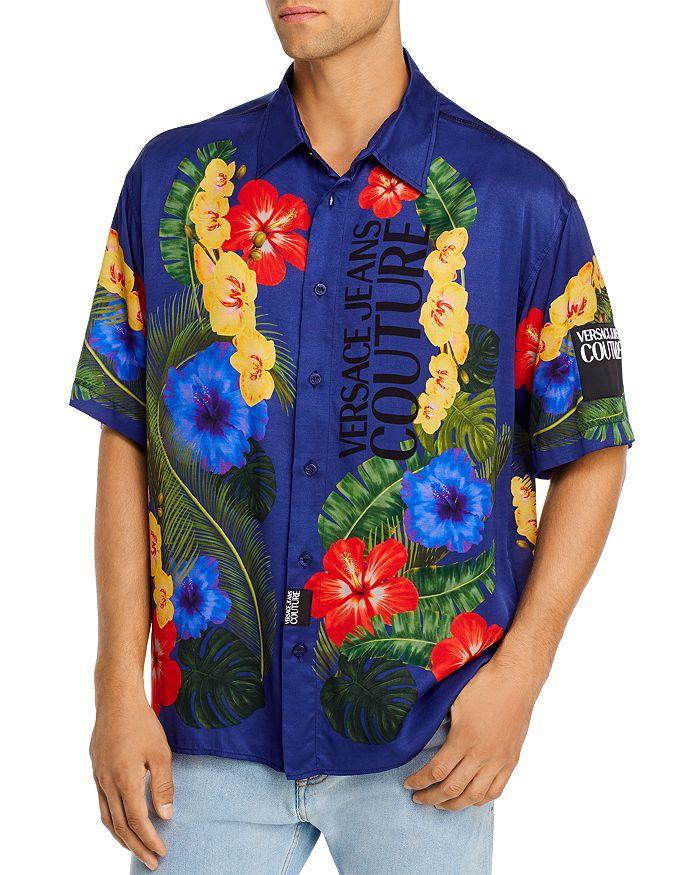 Versace Jeans Couture - Tropical Print Short-Sleeve Regular Fit Button-Down Shirt