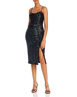 AQUA - Sequined Slip Dress - 100% Exclusive