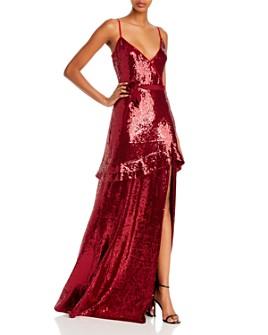 Rachel Zoe - Walker Sequined Faux-Wrap Gown