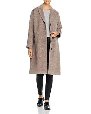 Eileen Fisher Coats TEXTURED LONG BOXY COAT