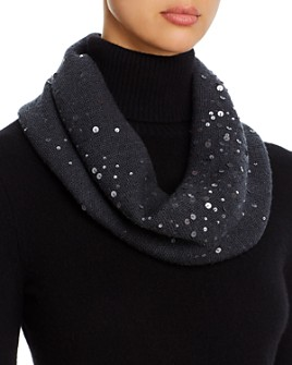 Eileen Fisher - Sequined Wool Infinity Scarf