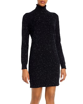 Theory - Cashmere Donegal Knit Turtleneck Sweater Dress