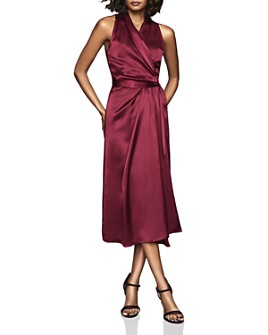 REISS - Moa Draped Wrap Dress