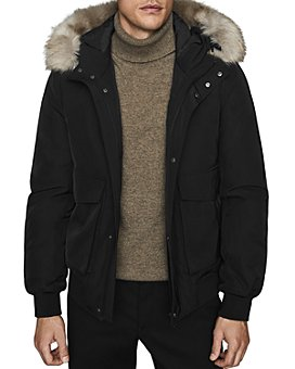 REISS - Bishop Faux Fur-Trimmed Hooded Jacket