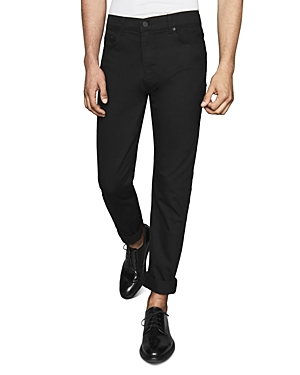 Reiss Mid-Rise Slim Fit Jeans in Stay Black