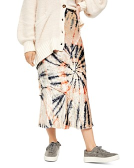 Free People - Bali Serious Swagger Velvet Tie-Dye Skirt