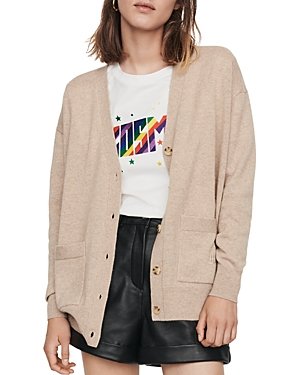 Maje Tops MAXENCE CASHMERE CARDIGAN
