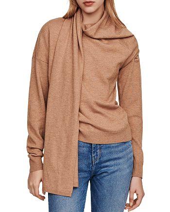 Maje - Madji Scarf-Detail Sweater