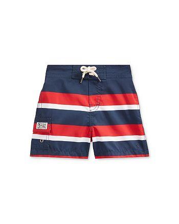 Ralph Lauren - Boys' Kailua Striped Swim Trunks - Baby