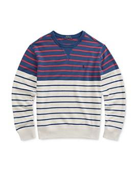 Ralph Lauren - Boys' Striped French Terry Sweatshirt - Big Kid