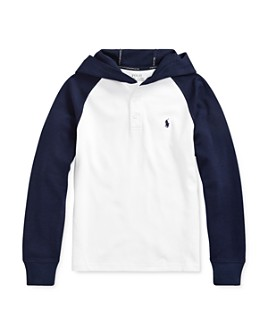 Ralph Lauren - Boys' Hooded Piqué Tee - Big Kid