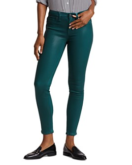 Hudson - Nico Mid Rise Ankle Skinny Jeans in Waxed Teal