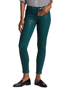 Hudson Jeans NICO MID RISE ANKLE SKINNY JEANS IN WAXED TEAL