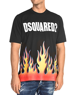 DSQUARED2 Flame Graphic Logo Tee
