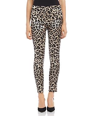 Karen Kane Pants PIPER LEOPARD JACQUARD SKINNY PANTS