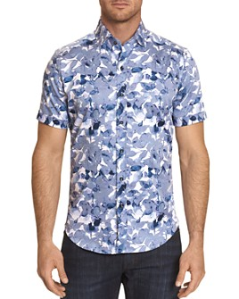 Robert Graham - Teasdale Printed Short-Sleeve Classic Fit Button-Down Shirt