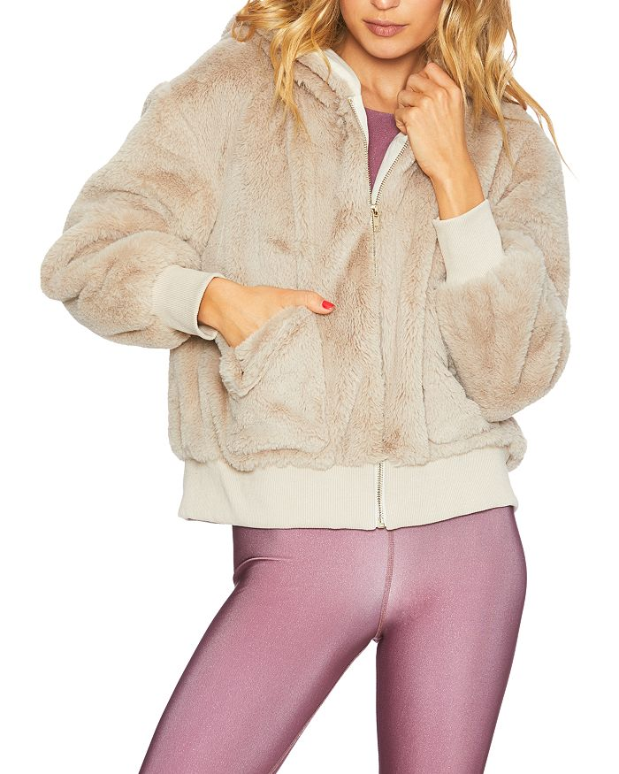 Beach Riot - Fuzzy Faux Fur Jacket