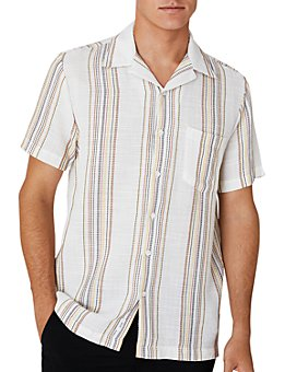 Onia - Vacation Woven Short-Sleeve Classic Fit Button-Down Shirt