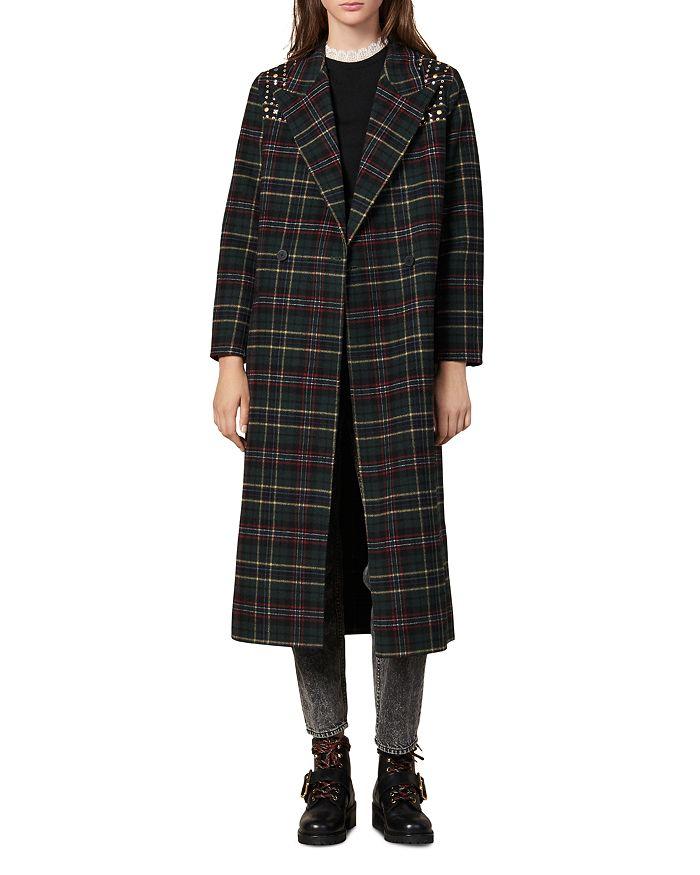 Sandro - Tiles Embellished Wool-Blend Coat