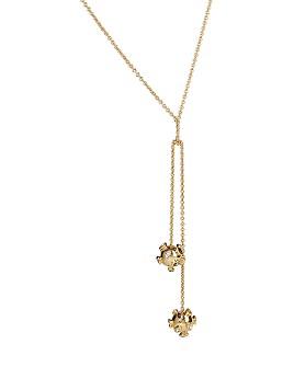 """Alexis Bittar - Sputnik Knot Double Drop Necklace, 16"""""""