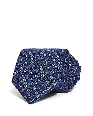 Canali Scattered Flowers Silk Classic Necktie-Men